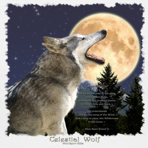 Celestial Wolf - Women's V-Neck T-Shirt
