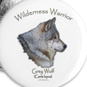 Wilderness Warrior Wolf  - Small Buttons