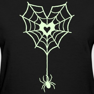 Glow Web Heart Tee - Women's T-Shirt