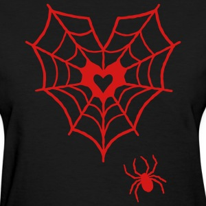 Spider Web Heart Tee - Women's T-Shirt