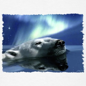 Aurora Dreaming Swimming Polar Bear - Men's T-Shirt