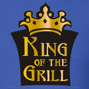 Royal blue King of the grill (01) T-Shirts (Short sleeve) - Men's T-Shirt