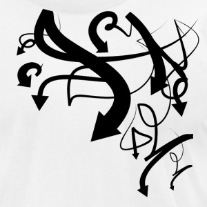 White graffiti arrows 2 T-Shirts (Short sleeve) - Men's T-Shirt by American Apparel