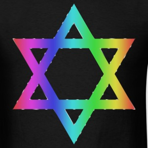 Gay Pride Star of David - Men's T-Shirt