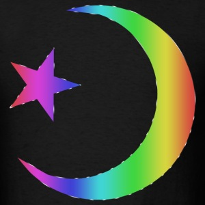 Gay Pride Star and Crescent - Men's T-Shirt