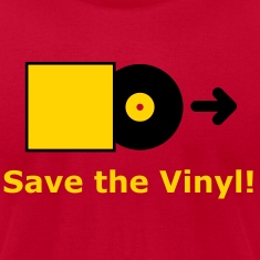 DJ - Vinyl - Save the Vinyl! T-Shirts (Short sleeve) Brown