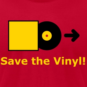 DJ - Vinyl - Save the Vinyl! T-Shirts (Short sleeve) Brown - Men's T-Shirt by American Apparel