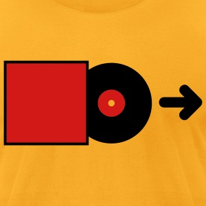 DJ - Vinyl - Save the Vinyl! T-Shirts (Short sleeve) Gold - Men's T-Shirt by American Apparel