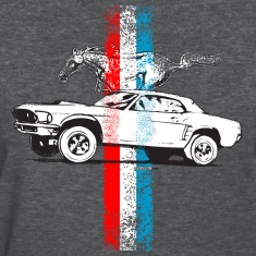 Deep heather auto_mustang_69_stripes_01 AUTONAUT.com Women's Tees (Short sleeve)