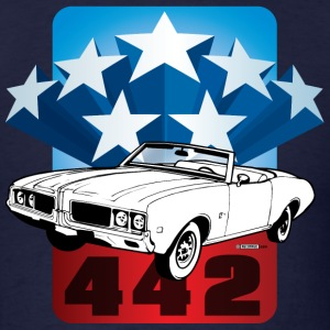 Navy auto_oldsmobile_442_001 T-Shirts (Short sleeve) - Men's T-Shirt