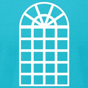 Turquoise window T-Shirts (Short sleeve) - Men's T-Shirt by American Apparel