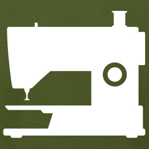 Olive sewing machine T-Shirts (Short sleeve) - Men's T-Shirt by American Apparel