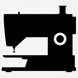 White sewing machine T-Shirts (Short sleeve) - Men's T-Shirt