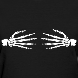 Black ghost hands boobs Women's Tees (Short sleeve) - Women's T-Shirt