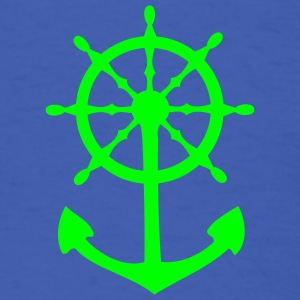 Royal blue Steering Wheel and Anchor T-Shirts - Men's T-Shirt