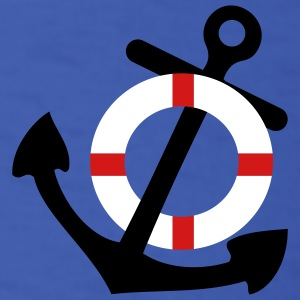Royal blue Life Saver and Anchor T-Shirts - Men's T-Shirt