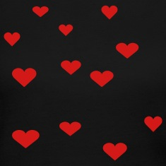 Black 12 Assorted Hearts Long sleeve shirts