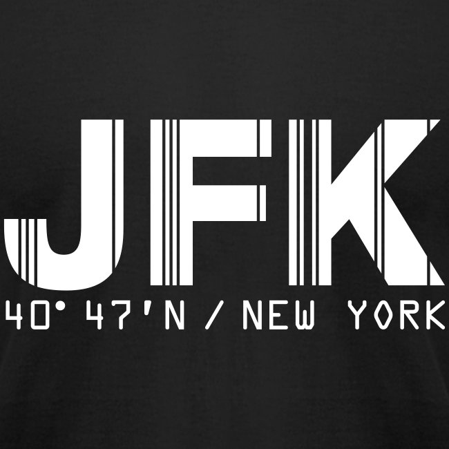 New York City Airport Code JFK Fitted T-shirt