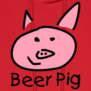 Red Beer Pig Hoodies - Men's Hoodie