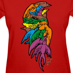 Red Tattoo Dove Women's T-shirts - Women's T-Shirt