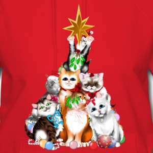 Christmas Tree Kittens - Women's Hoodie