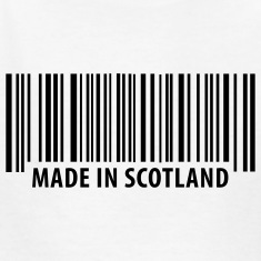 White Made in Scotland Kids Shirts