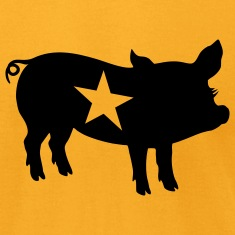Gold ::STAR PIG:: T-Shirts