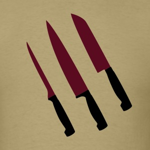 Khaki set of knives T-Shirts - Men's T-Shirt