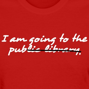 Red I am going to the pub Women's T-shirts - Women's T-Shirt