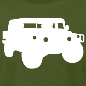 Olive hummer T-Shirts - Men's T-Shirt by American Apparel