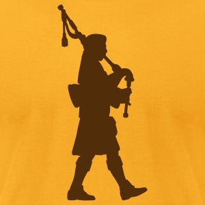 Gold bagpipes T-Shirts - Men's T-Shirt by American Apparel
