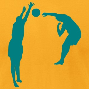 Gold volleyball block T-Shirts - Men's T-Shirt by American Apparel