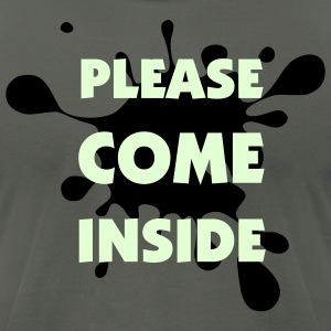 Please Come Inside (Glow-in-the-Dark) - Men's T-Shirt by American Apparel