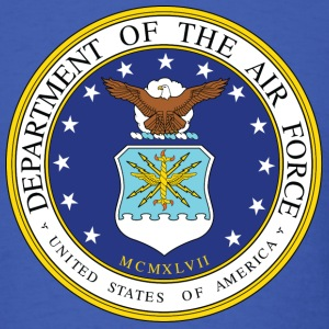 Royal blue US Air Force seal - MILITEE.us T-Shirts - Men's T-Shirt