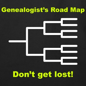 Genealogist's Road Map - Eco-Friendly Cotton Tote