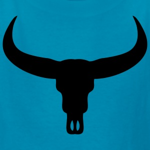 Orange Bull Skull Kids Shirts - Kids' T-Shirt