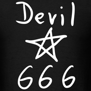 Black Devil  666 - Pentacle T-Shirts - Men's T-Shirt