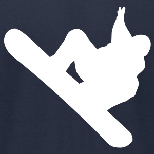 Navy snowboarding T-Shirts - Men's T-Shirt by American Apparel