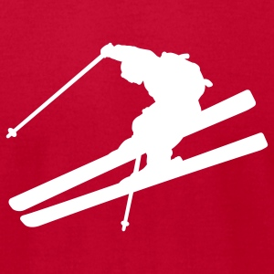Red skier T-Shirts - Men's T-Shirt by American Apparel