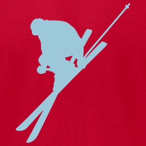 Brown skiing T-Shirts - Men's T-Shirt by American Apparel