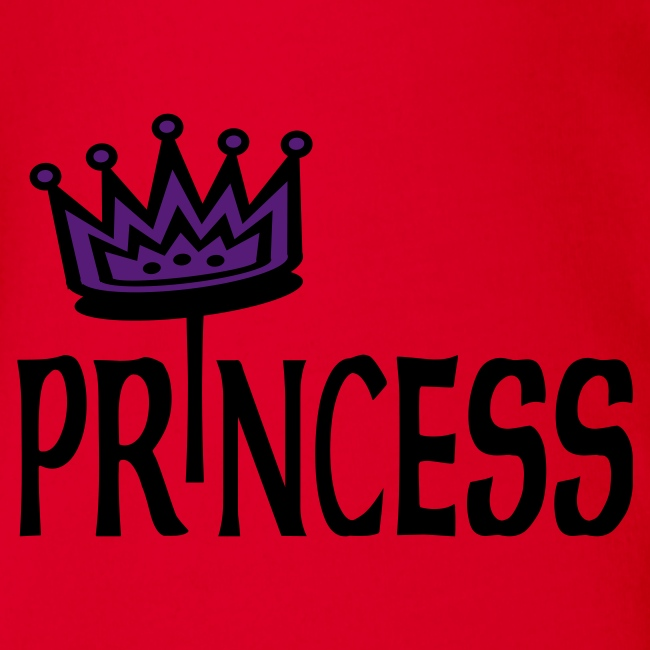 Kool Kids Tees 'Princess With Crown' Baby One size in Lt. Pink