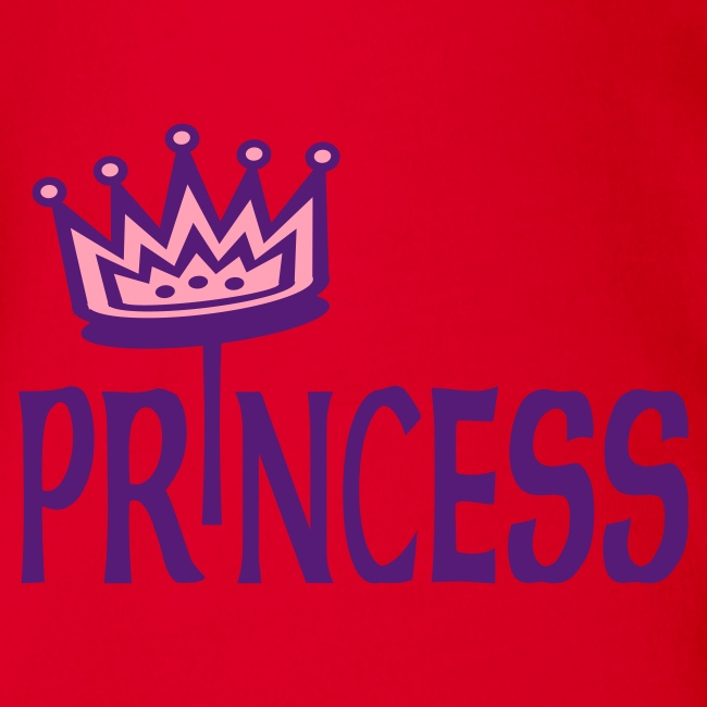 Kool Kids Tees 'Princess With Crown' Baby One size in Fushcia