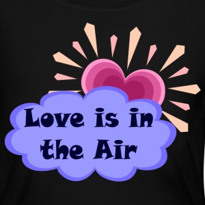 Black Love Is In The Air Long sleeve shirts - Women's Long Sleeve Jersey T-Shirt