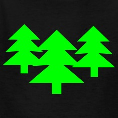 Black Wood - Tree - Trees Kids Shirts
