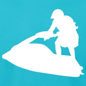 Turquoise jet ski T-Shirts - Men's T-Shirt by American Apparel