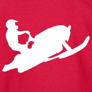 Red snowmobiling Kids Shirts - Kids' Long Sleeve T-Shirt