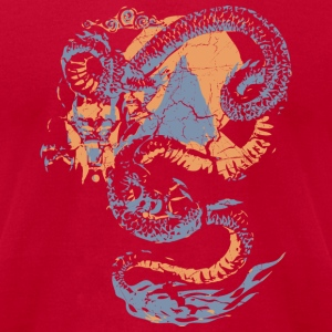Lemon Cool Vintage Chinese Dragon Graphic T-Shirts - Men's T-Shirt by American Apparel