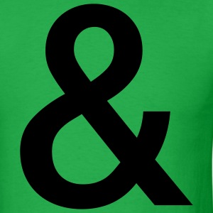 Bright green Your Basic Ampersand T-Shirts - Men's T-Shirt