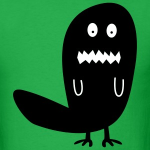 Bright green Worried Monster T-Shirts - Men's T-Shirt