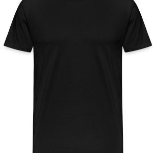 Black ornament_turning_wheel Caps - Men's Premium T-Shirt